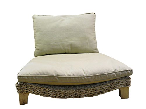 Seagrass Harmony Meditation Chair - Natural with Flax Cushion (Xoticbrands) (Harmony Meditation Chair)