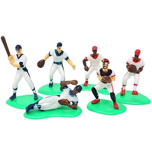 Baseball Sports Team Cupcake & Cake Topper Decorative Figurine (6 Players) ()