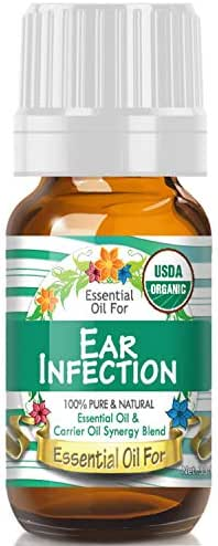 Essential Oil for Ear Infection (USDA Organic - 100% Pure) Unique Blend of Essential Oils Recomended by Aromatherapists for Aromatherapy - 10ml
