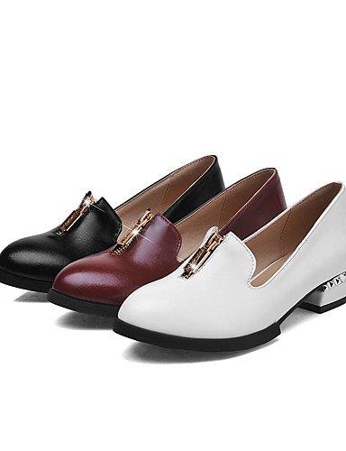 GGX/ Damenschuhe-High Heels-Büro / Lässig-PU-Blockabsatz-Komfort / Spitzschuh-Schwarz / Weiß / Burgund white-us9.5-10 / eu41 / uk7.5-8 / cn42