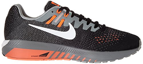 Nike Air Zoom Structure 20, Sneakers Para Hombre Negro (Black/white/matte Silver/hyper Orange/cool Grey)