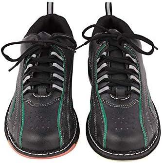 Ligeras Antideslizantes Zapatos De Bolos con Cordones Zapatillas De Bolos para Mujer Zapatillas De Bolos Transpirables Y C/ómodas,Negro,45 FJJLOVE Zapatos De Bolos para Hombre