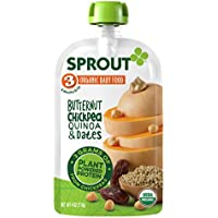 12-Pack Sprout Organic Baby Food Pouches Stage 3 Sprout 4 Ounce (Butternut Chickpea)