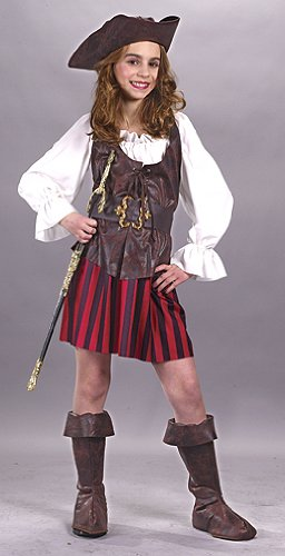High Seas Pirate Costumes (High Seas Buccaneer Pirate Costume Girl - Small 4-6)