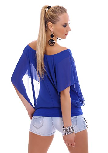 WeaModa - Camisa deportiva - para mujer Azul