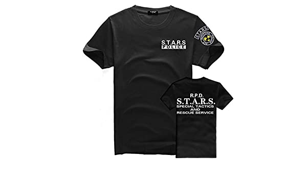 Resident Evil S.T.A.R.S - Camiseta con logotipo camiseta corto, 0Black, Medium: Amazon.es: Ropa y accesorios