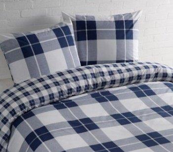 Aminata Karierte Bettwäsche 135x200 Cm Baumwolle Reißverschluss