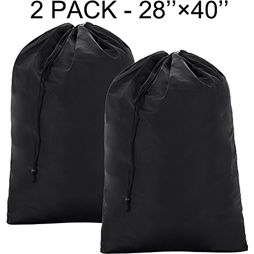 BGTREND 2 Pack Large Laundry Bag [28''×40''] Machine Washable Sturdy Rip-stop Material with Drawstring Closure
