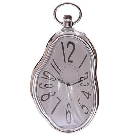 Desconocido Reloj de pared estilo de la fondue Salvador Dal CLCK15 - Reloj derretido de Dalí: Amazon.es: Hogar