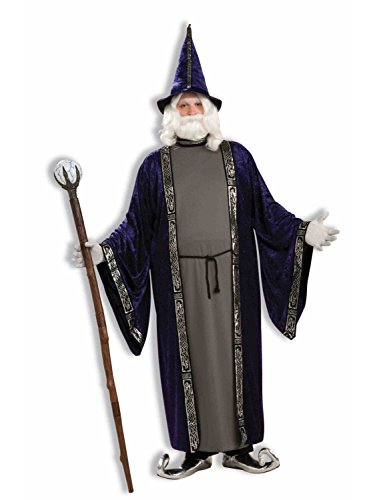 Forum Novelties Unisex Wizard Costume Dark Blue/Purple Size 48-50]()