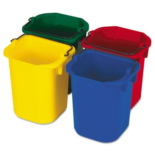 Disinfecting Microfiber Mop Bucket - RCP9T83-5-Quart Disinfecting Utility Pail, 4 Colors