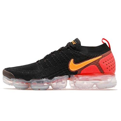 Nike Men's Air Vapormax Flyknit 2, Black/Laser Orange, 10 M US