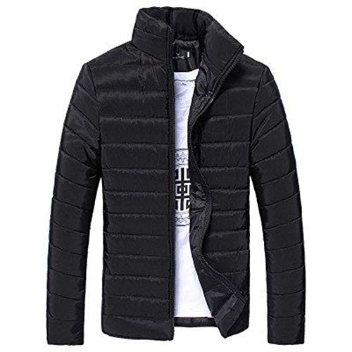 Men Jacket Down Parka Winter Coat Warm Outerwear Slim Thick Zipper Casual Premium Quality Jacket Cardigan Walking Outdoors Champion Countrywear Overcoat Black