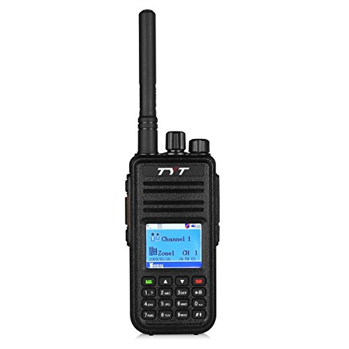 TYT Tytera MD-380 DMR Digital Radio, VHF 136-174 Walkie Talkie, Transceiver Compatible with Mototrbo, Up to 1000 Channels, with Color LCD Display, Cable & 2 Antenna (High Gain One in cluded)
