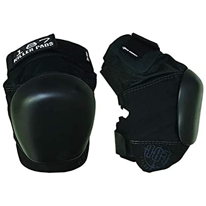 Image of 187 KILLER PADS Pro Derby Black - Black/Black (Small) Knee Pads