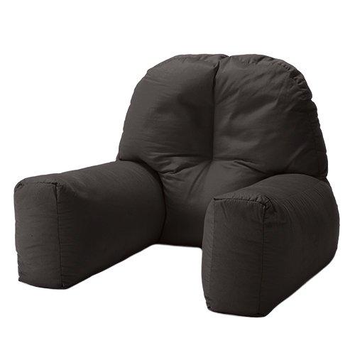 Changing Sofas Black Cotton Twill U0027Chloeu0027 Bean Bag Back Rest Reading  Cushion: Amazon.co.uk: Kitchen U0026 Home