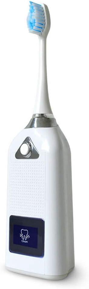 電動歯ブラシ 電源充電式電動歯ブラシスマートディスプレイ画面デイリークリーンと歯茎のケア (色 : 白, サイズ : Free size)
