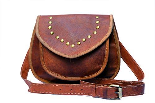 KGNExportsHouse , 9 Pollice Leather Cross Body Messenger Bag Piccolo Valigetta Borsello Bauletto Borsetta Borsa sacchetto di spalla Tracolla borsa trasversale del corpo Pelle Uomo Donna �?Unisex
