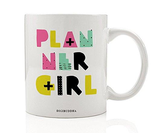 Planner Girl Gift, Planner Addict Mug Tea Cup Agenda Plan Organization Schedule Calendar Book Lover Girlboss Happy Christmas Birthday Present Idea Woman Her Mom Boss Coworker 11oz Digibuddha DM0294 (Llama Teacup)