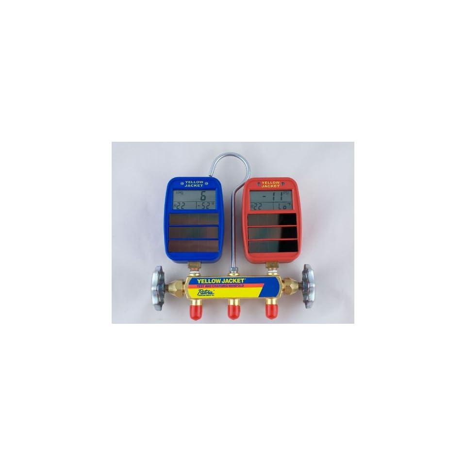 Yellow Jacket 41612 Series 41 Manifold w/ Solar Gauges