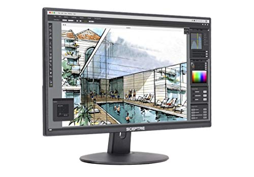"Sceptre E205W-1600 2020 20"" 75Hz Ultra Thin LED Monitor HDMI VGA Build-in Speakers, Metal Black"