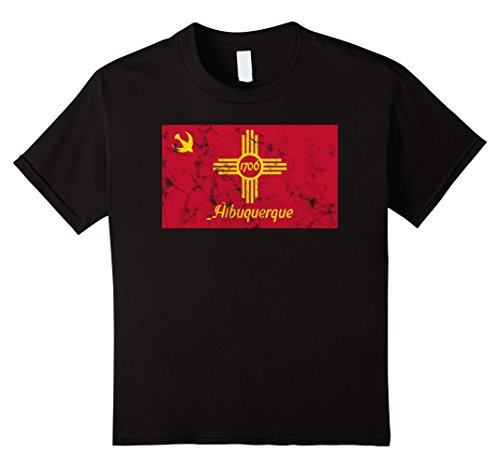 unisex-child Albuquerque New Mexico Distressed Flag City Pride T-Shirt 8 - Albuquerque Kids