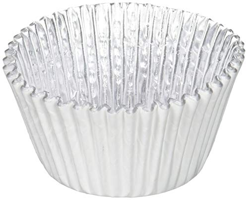 PME BC769 White Foil Lined Baking Cups for Cupcakes, Standard Size with Deeper Fill