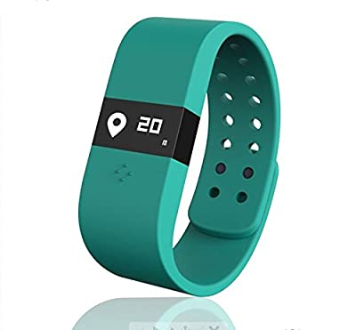 Digicare® ERI Bluetooth 4.0 Smart Watch Update Smartband Fitness Activity Tracker Bracelet Sleep Monitor Wristband W/led Touch Screen Waterproof Ip67 Thermometer Measuring Heart Rate for Andriod & Ios (Blue)