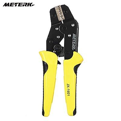 Meterk Crimping Tool Wire Crimpers With Carbon Steel Support Crimping Range Comfort Grip Terminals Connectors Ratcheting