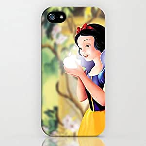 SUUER Rubber Silicone Custom Cartoon Snow White Rubber Tpu CASE for iPhone 5 5s Durable Case Cover by ruishername