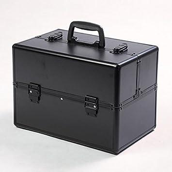 Estuche cosmético estético aluminio-Maletín de maquillaje con caja para joyas, diseño de violetta: Amazon.es: Bricolaje y herramientas