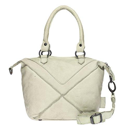 VOi Damen Umhängetasche 21073 Leder Crossover Bag elegante Schultertasche in Vintage Kiwi