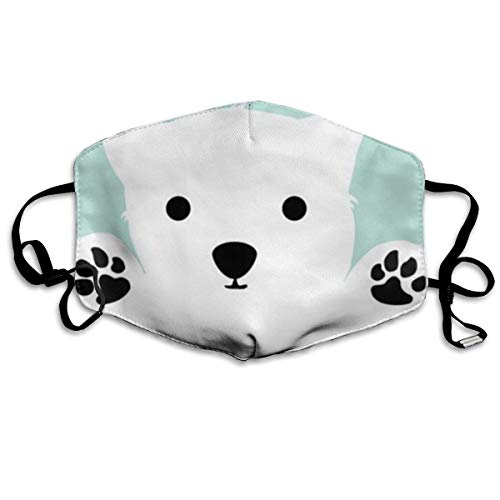 large-scale Unisex Mouth Mask Hug Baby Polar Bear Flu Dust Masks Filters Half Face Earloop Masks Dust Pollen Masks for Outdoor Cycling