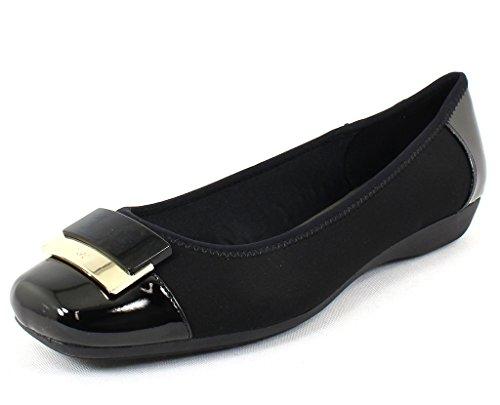 Womens Shoes Flat Klein (Anne Klein Women's, UNA Slip on Flats Black 8.5 M)