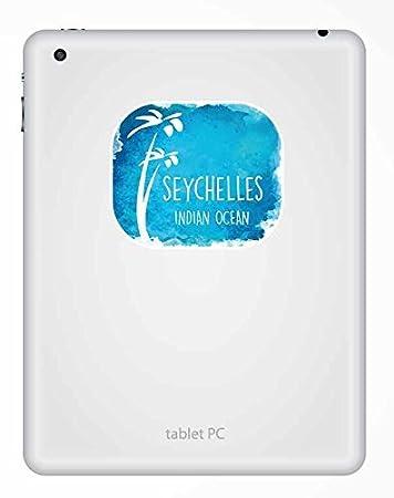 2/x Seychelles Sticker en vinyle pour ordinateur portable voiture voyage bagages /étiquette /étiquette # 9678-10cm//100mm Wide