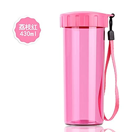 YX.LLA Las tazas de agua430Mlthe cubierta de plástico con Creative Portable Mugs antiderrames,