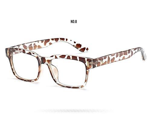 Haressu(TM Brand Design Clear Lens Eyewear Frames Unisex Eyeglasses Men Women Optical Anti-Fatigue Goggles Eye Glasses Frames[Leopard]