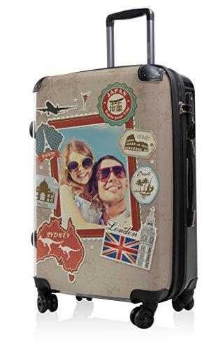 HAUPTSTADTKOFFER - STYLE Hartschalenkoffer Koffer Trolley Reisekoffer Reisegepäck, individuell gestalten, Geschenkidee, Design: Dein Foto Style World Dein Foto