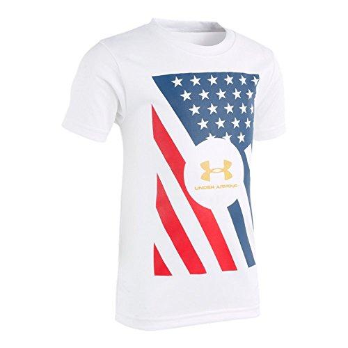Under Armour Baby Boys USA Short Sleeve T-Shirt, White, ()