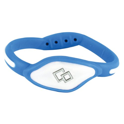 Trion:Z Flex Magnetic Bracelet / Wristband (Light Blue/White, M), Outdoor Stuffs