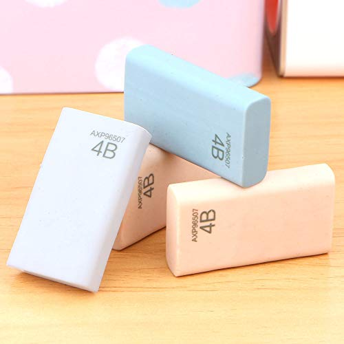 KIMME 4Pcs/Lot 4b eraser pencil eraser student stationery school office supplies by KIMME (Image #2)