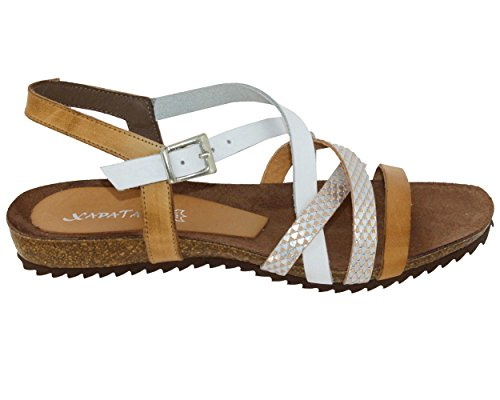 Xapatan 5466, Femme Nu-Pied Blanc Lisse