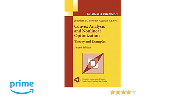 convex analysis and nonlinear optimization theory and examples cms