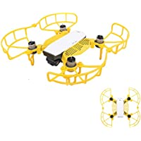 Drone Fans Spark 1 set Propeller Guards Blade Protectors + 1 set Landing Gear Stabilizers Legs Extender Kit Propeller Bumpers Combo and Finger Guards for DJI SPARK Drone Yellow