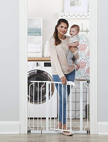 Regalo Easy Step 38.5-Inch Extra Wide Walk Thru Baby Gate, Includes 6-Inch Extension Kit, 4 Pack Pressure Mount Kit, 4 Pack Wall Cups and Mounting Kit ( 1 Gate Set)