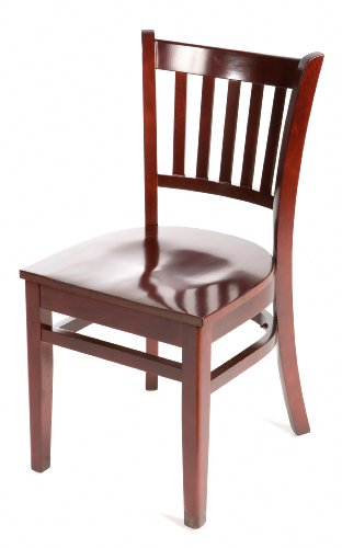 - Oak Street Manufacturing WC102MH Solid Mahogany Wood Frame Verticalback Dining Chair with Mahogany Wood Seat, 18