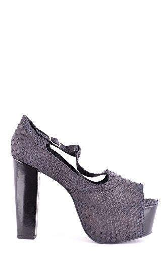 Jeffrey Campbell Women's MCBI163037O Black Leather Sandals