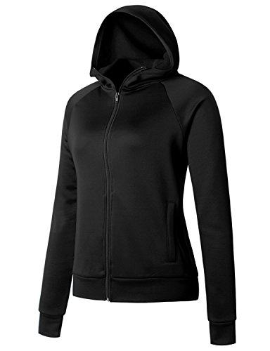 Regna X Love Coated Women Benton Springs Full-Zip Hoodie Fleece Jacket Black S by Regna X (Image #3)