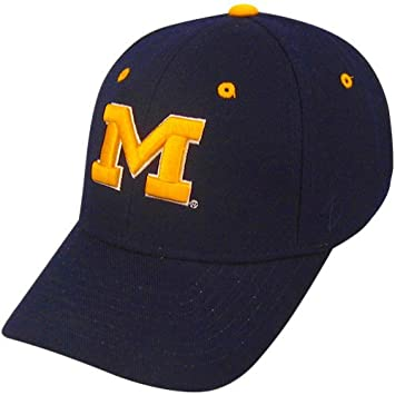 5659bd2cadf australia zhats university of michigan wolverines top blue dh m adult mens fitted  hat cap size