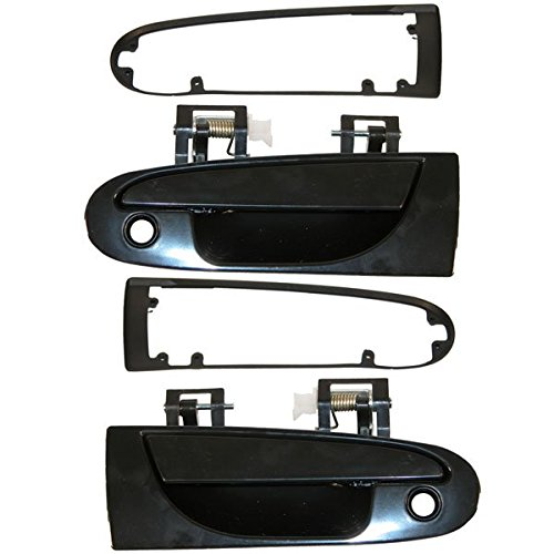1995-1999 Mitsubishi Eclipse, Eagle Talon 1995-2000 Dodge Avenger Chrysler Sebring Coupe 2 Door Outside Outer Exterior Black Door Handle Left Driver Side (1995 95 1996 96 1997 97 1998 98 1999 99 2000 00)